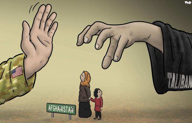 Cartoon about the Taliban