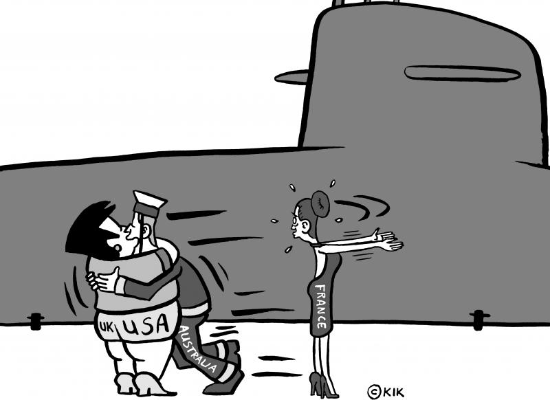 Submarine deal between Australia, USA and and NOT between Australia and France