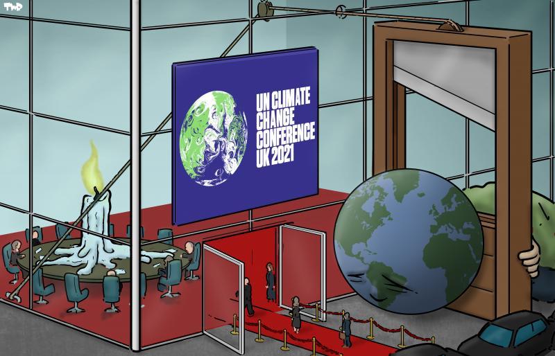 Cartoon about COP26