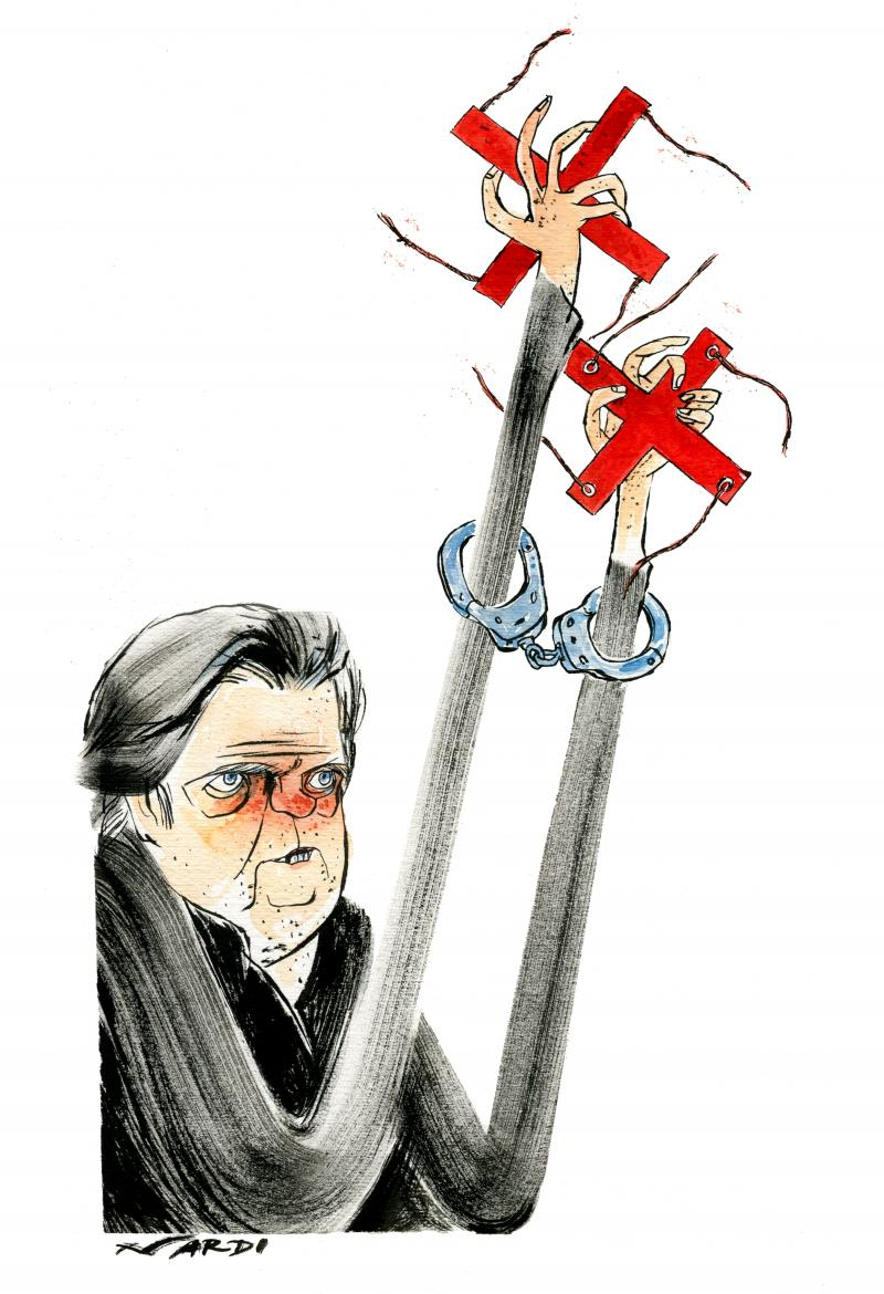 Cartoon about Steven Bannon