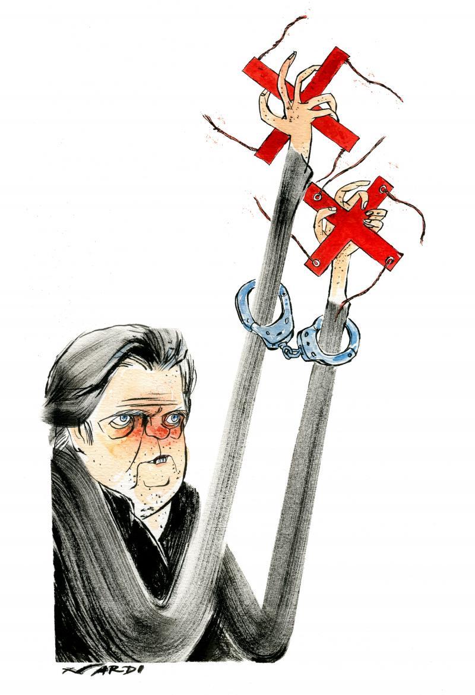 Cartoon about Steven Bannon