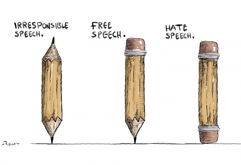 Cartoon about free speech