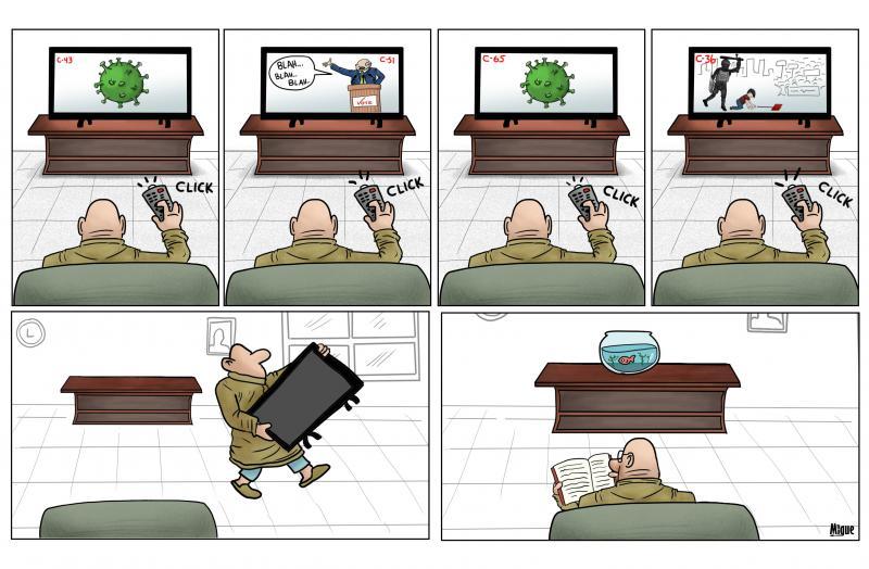 Cartoon about news