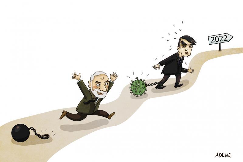 Cartoon about Lula and Bolsonaro