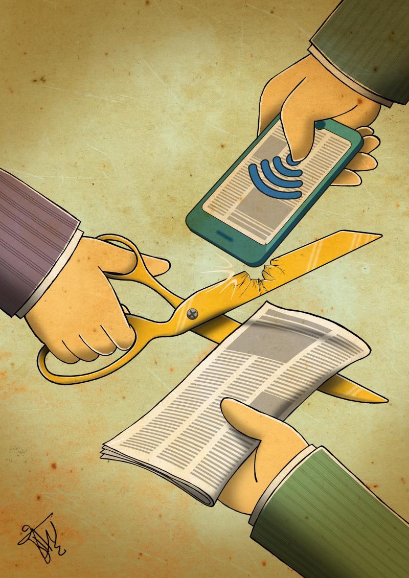 Cartoon about journalism