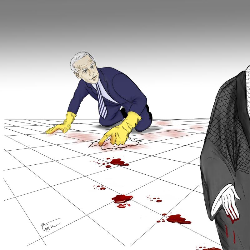 Joe Biden's team wash the blood of Ayatollah's hands!