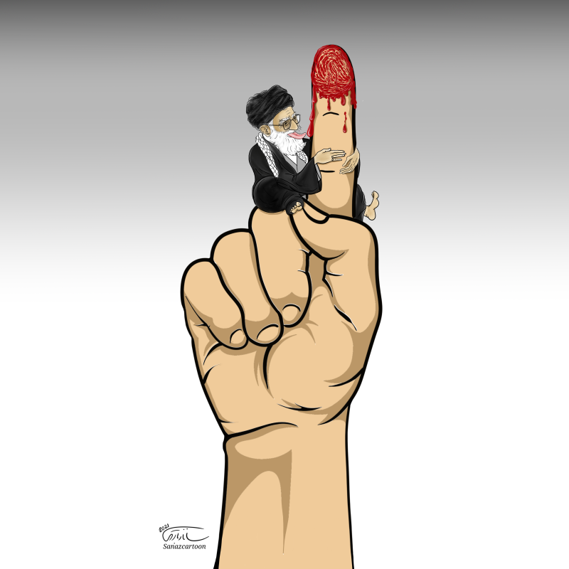 Finger in the blood