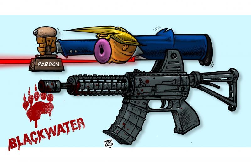 Trump pardoning Blackwater's war criminals
