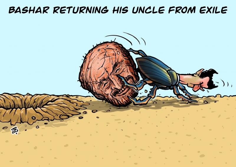 Bashar returning his uncle from exile