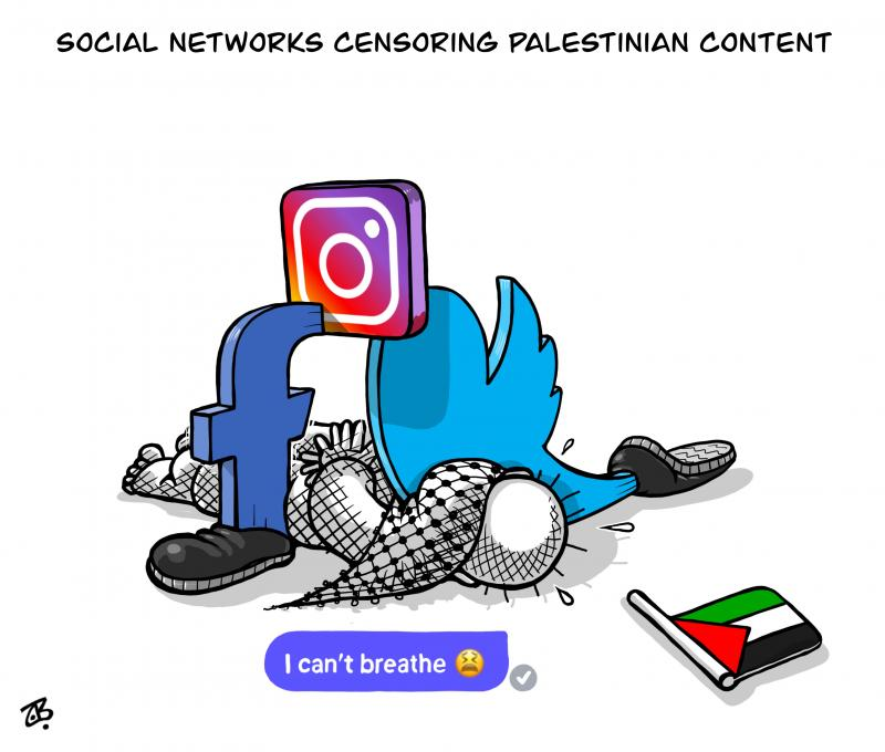 Social networks censoring Palestinian content