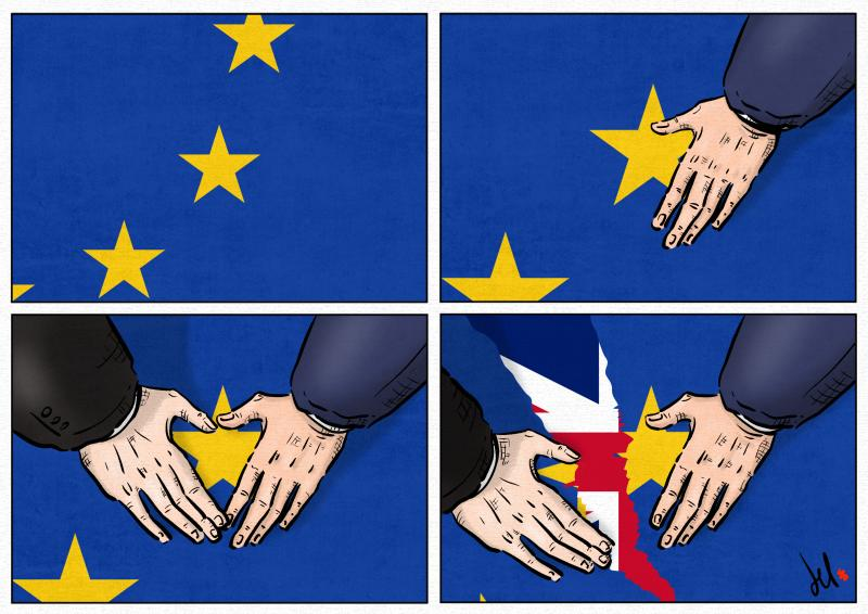 cartoon by emanuele del rosso about brexit