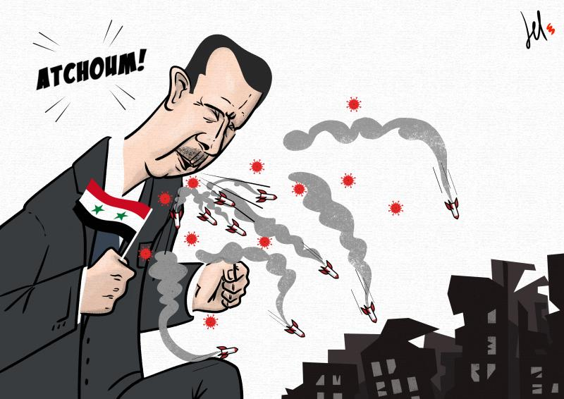 cartoon by emanuele del rosso about bashar