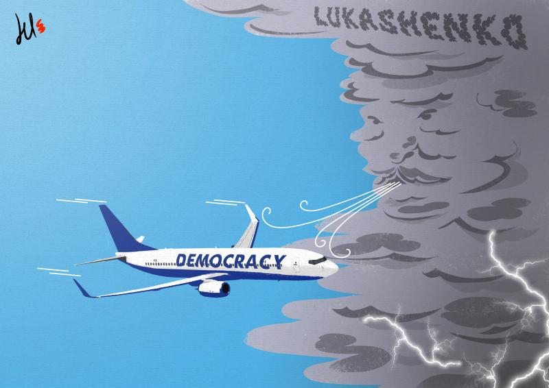cartoon by del rosso about lukashenko