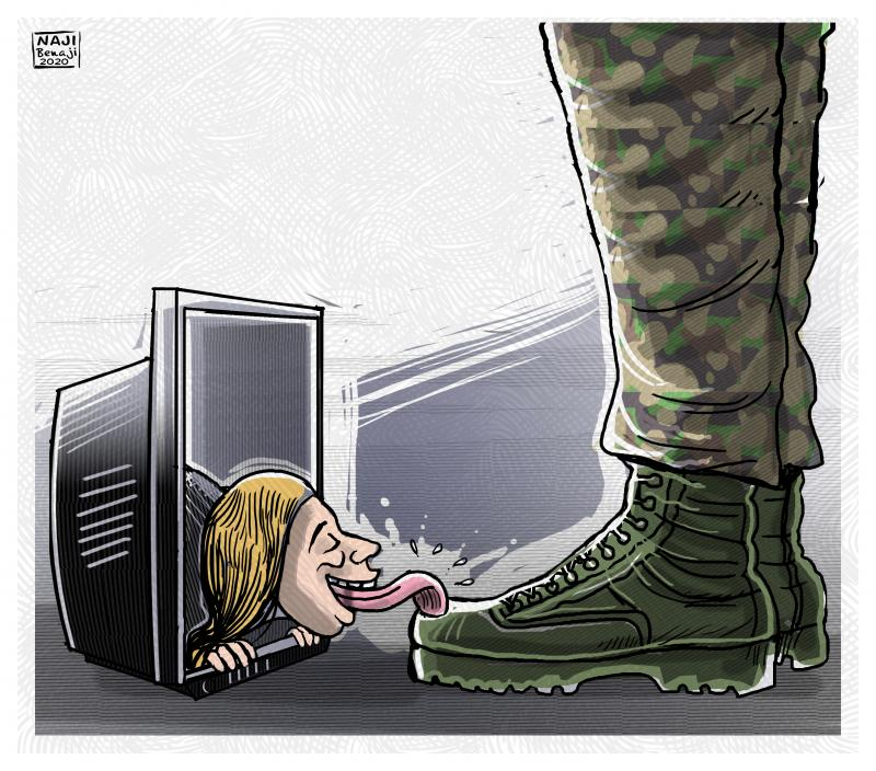 The press in dictatorial countries is succumbing to the army
