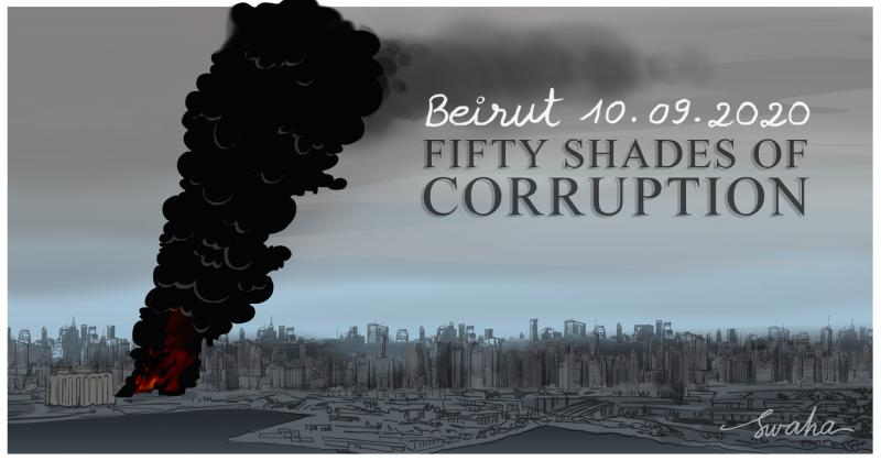 Huge blaze at Beirut port alarms residents a month after massive blast.