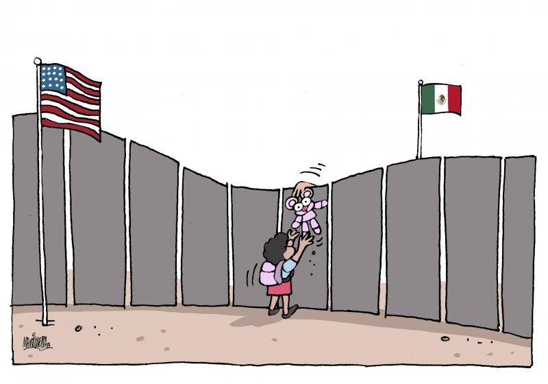 Children alone at the border