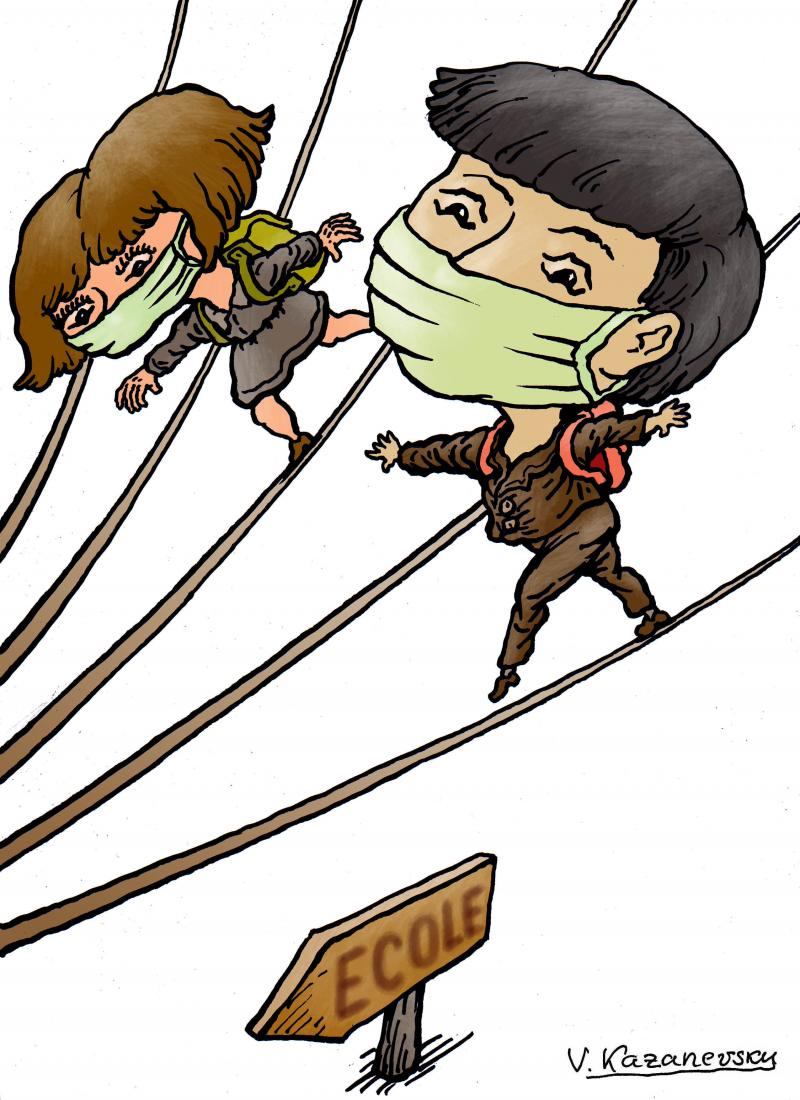 School coronavirus risque