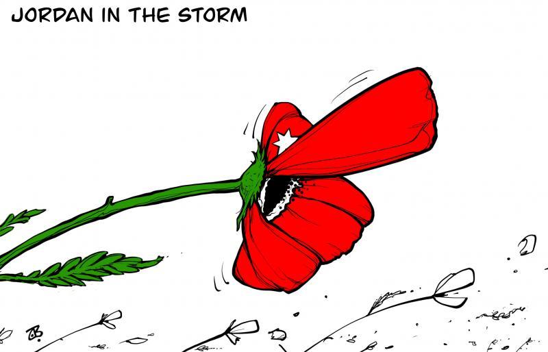 Jordan in the storm