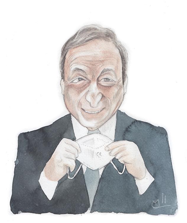 portrait of Mario Draghi