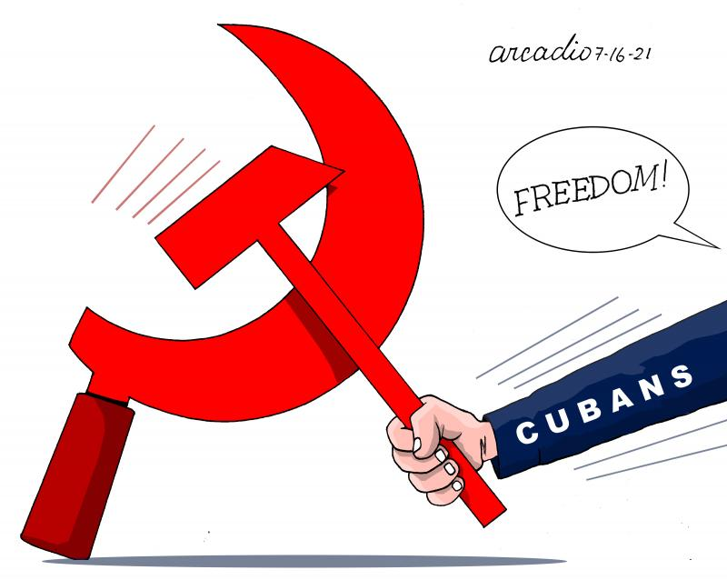 Cubans want to live in democracy.