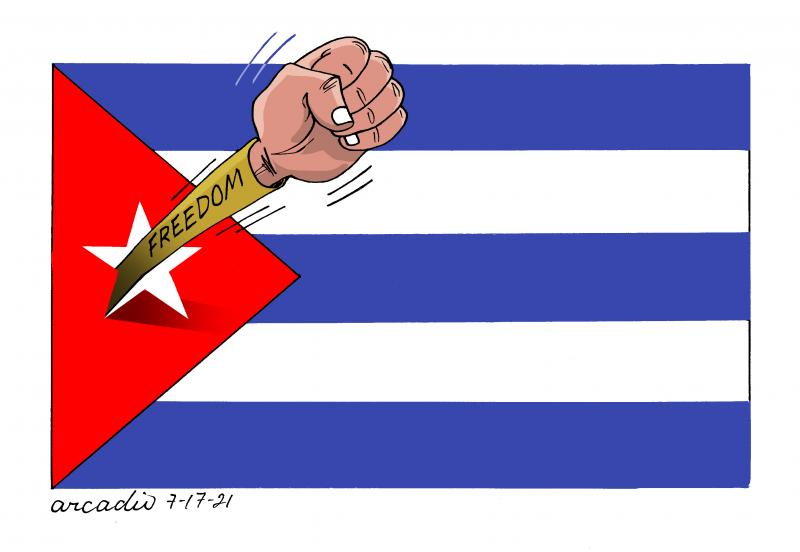 Cuban people claim for freedom!!!