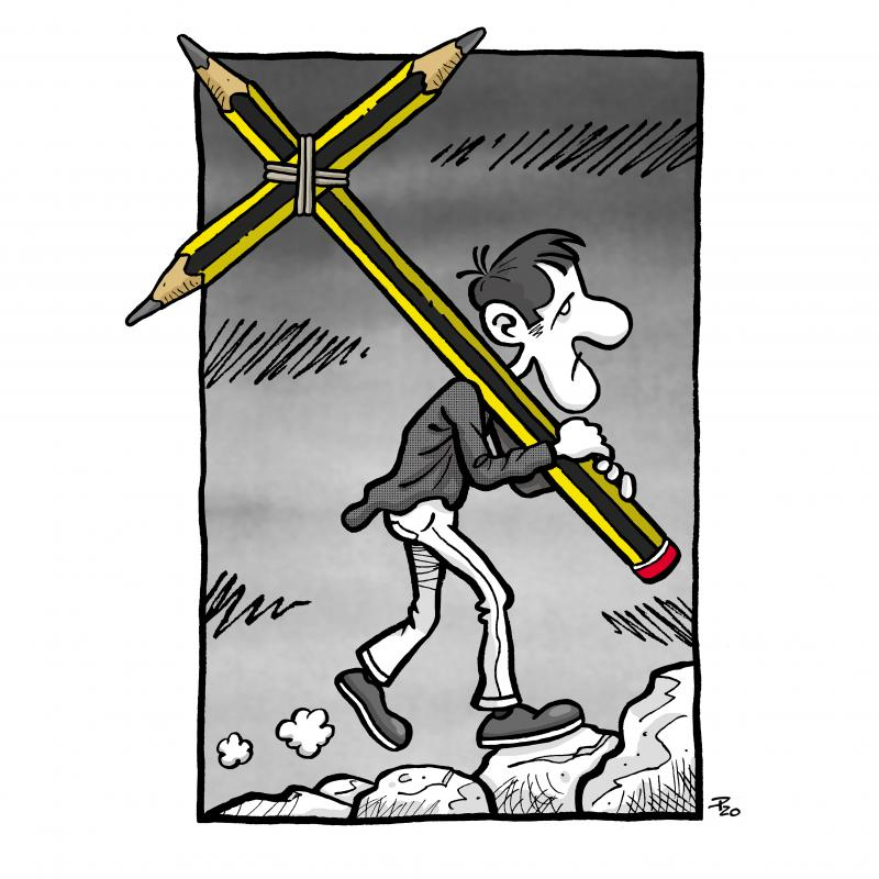 Cartoonist calvary