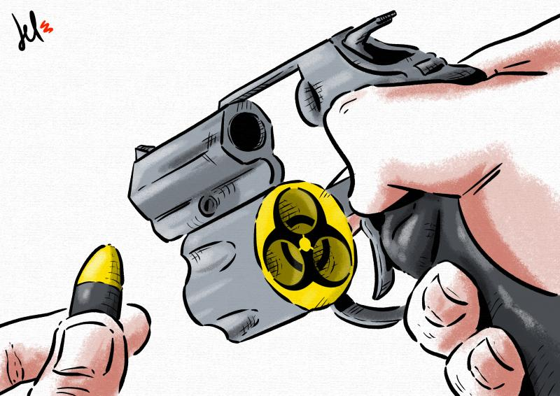 cartoon by emanuele del rosso about nuclear power