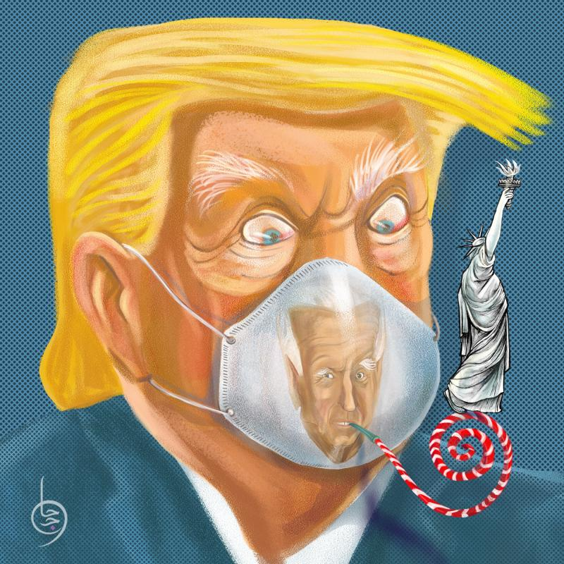 The face mask is the only ''democratic way'' to silence Trump