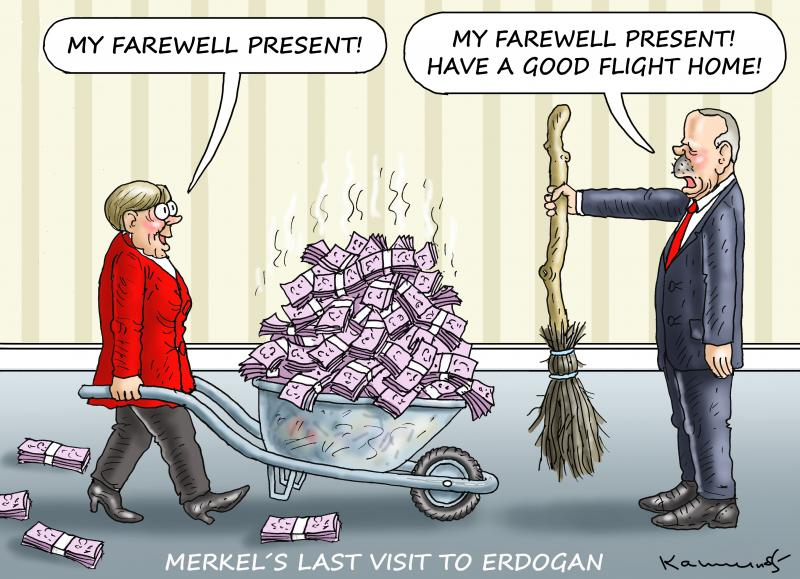 Merkel's last visit to Erdogan.