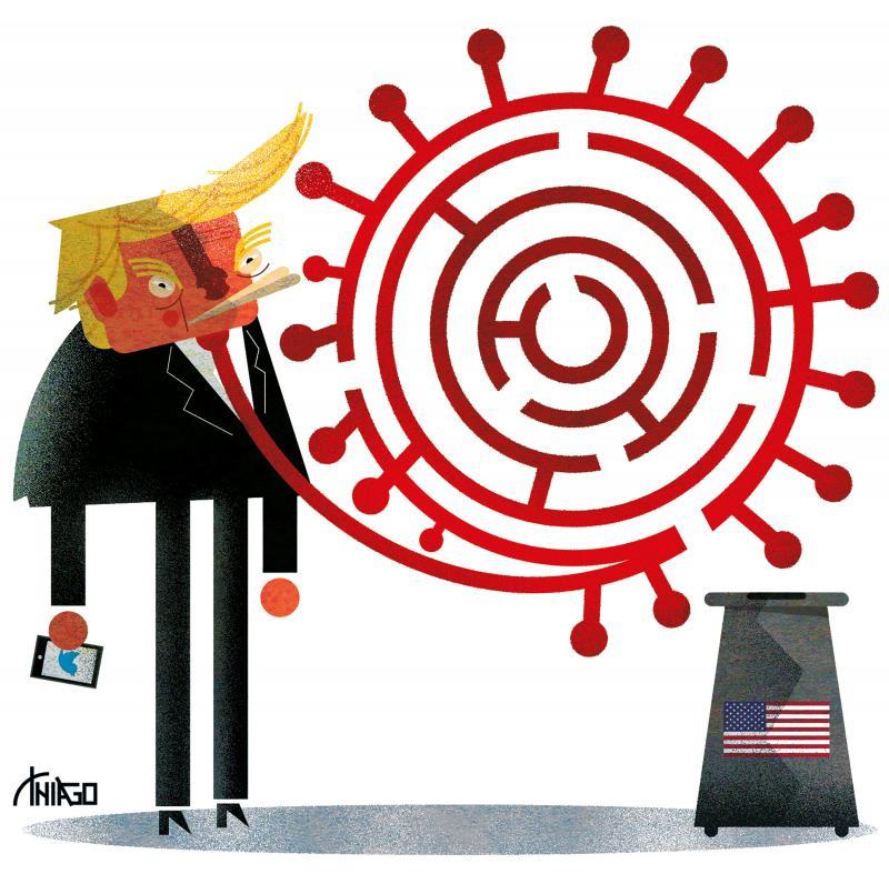 Trump with Covid