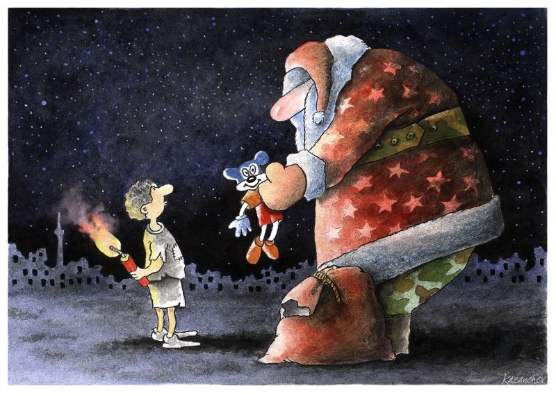 New Year, Santa Claus, child