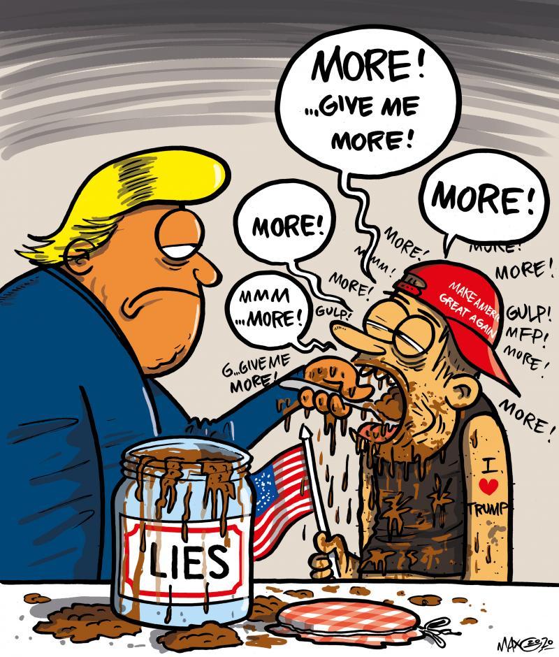 Trump feeding lies