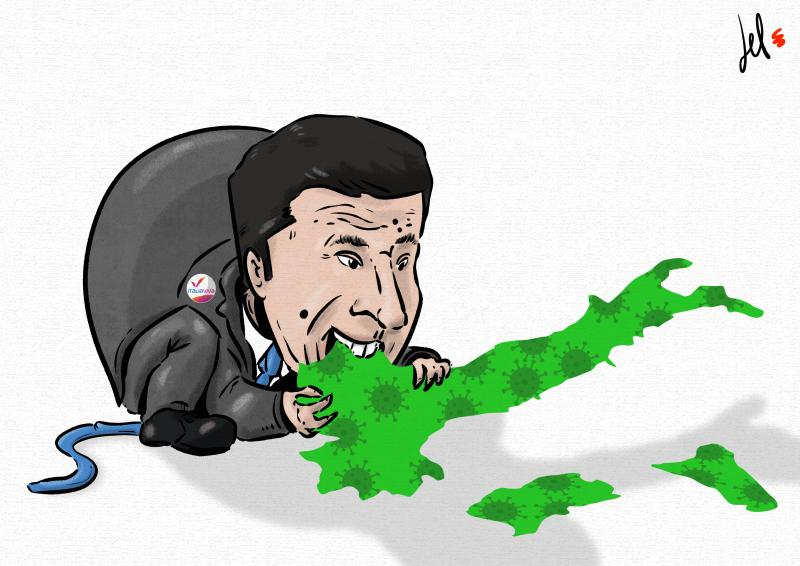cartoon by emanuele del rosso about italy and matteo renzi