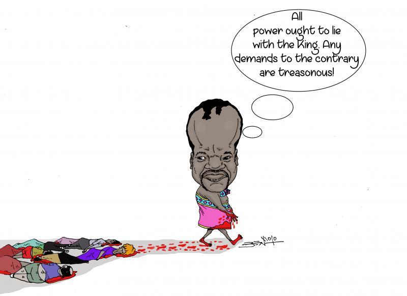 King Mswati lll brutal repression