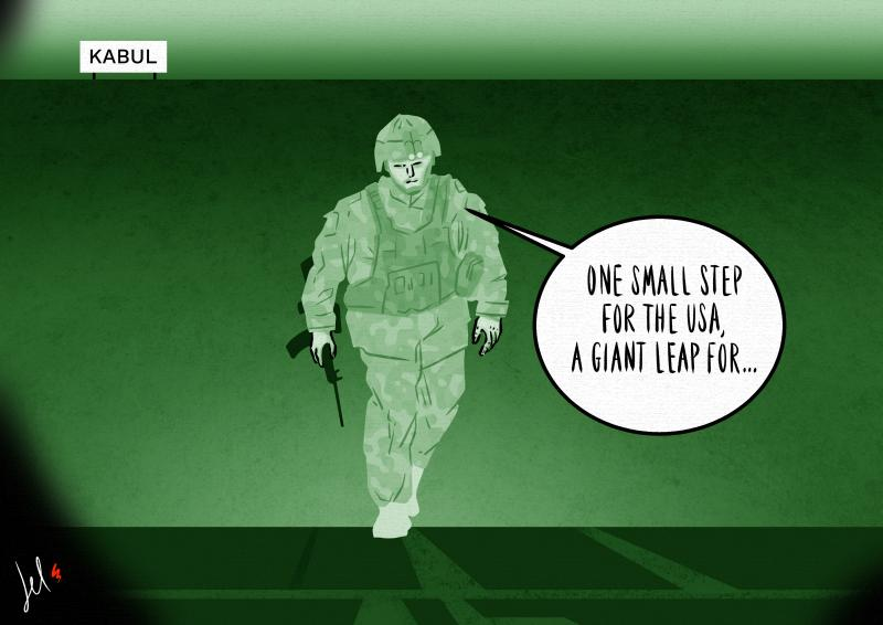cartoon about afghanistan and USA