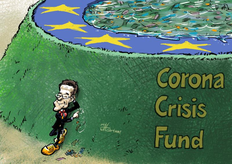 PM Rutte of the Netherlands, stopping the corona help from leaking