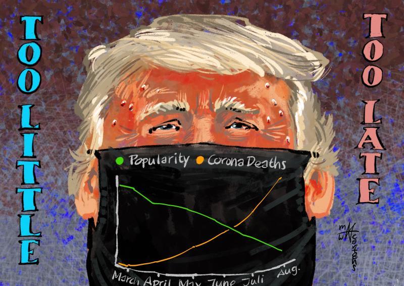 Trump finally wearing a face mask