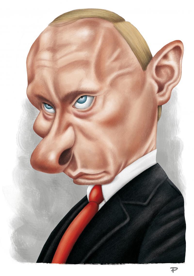 Caricature of Vladimir Putin