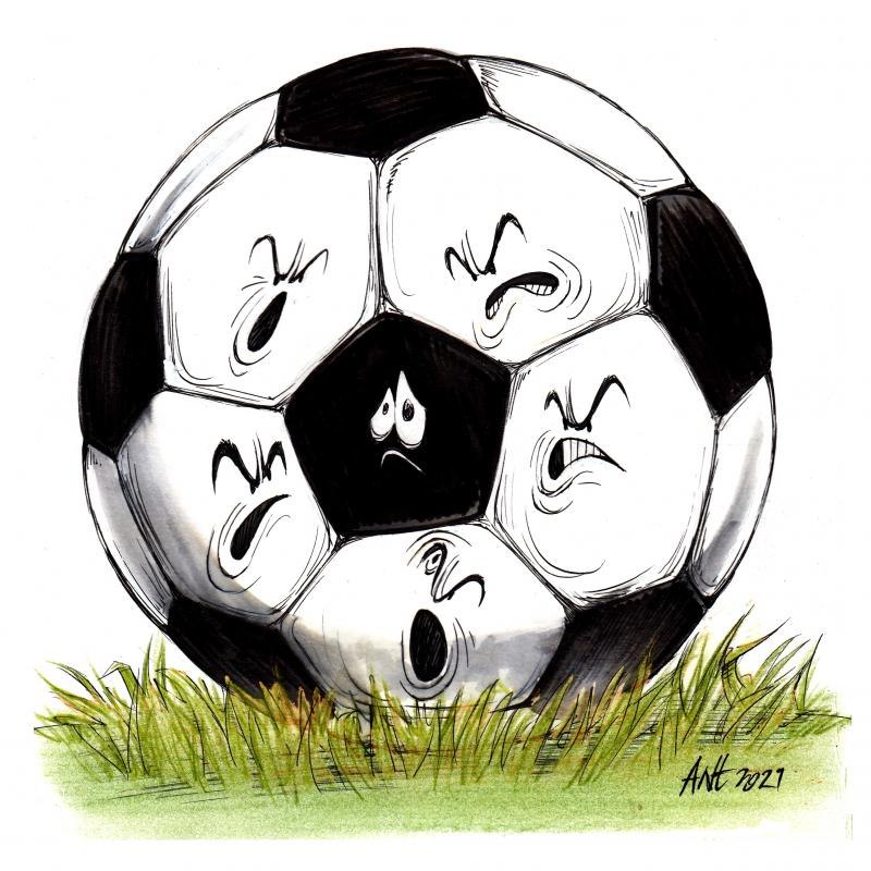 Cartoon about racism in football