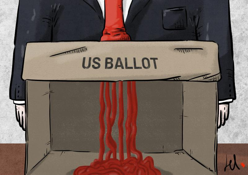 cartoon by emanuele del rosso about trump