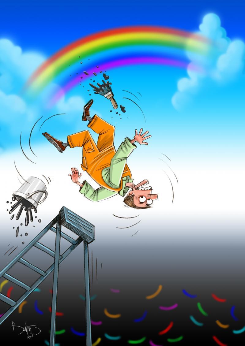 Sketcher-Aistė, Lithuania-Somewhere over the rainbow-Cartoon by Bahram Arjmandnia