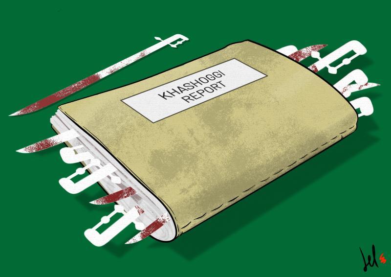cartoon by emanuele del rosso about Jamal Khashoggi