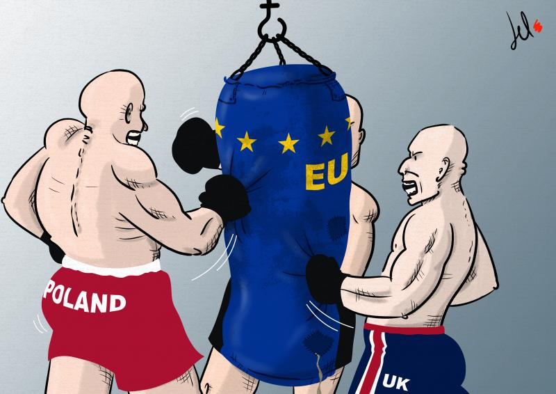 cartoon by emanuele del rosso about european union