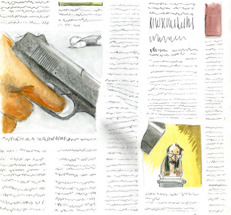 Cartoon about press freedom