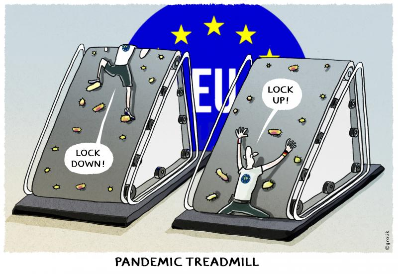 The pandemic treadmill...it feels like we are caught in a pandemic trap...