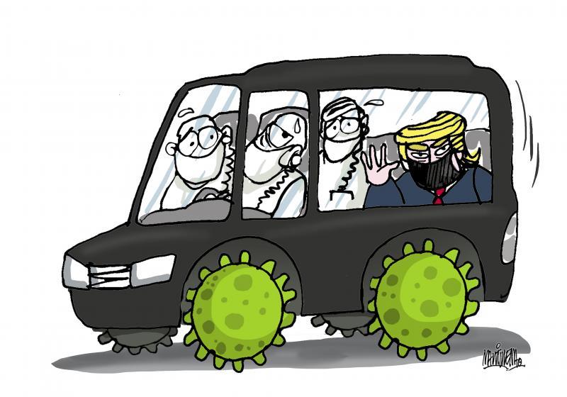 Trump leaves the hospital
