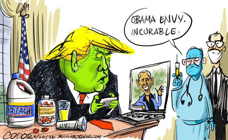Trumps jealousy of Obama has no cure