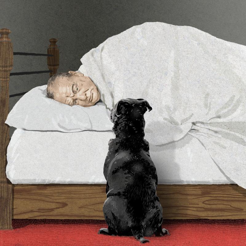 Winston Churchill and the black dog
