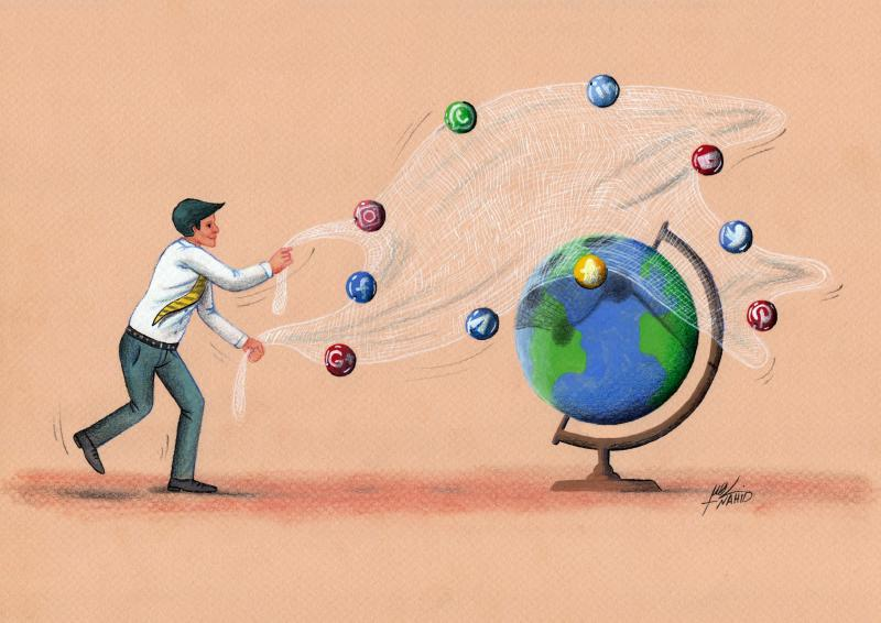 the world under the supervision of social media