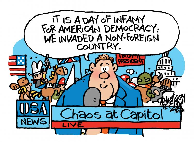 It is a day of infamy for American Democracy: we invaded a non-foreign country.